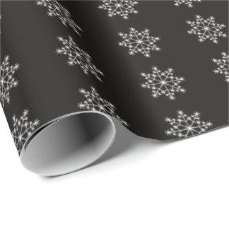 Noël blanc de noir de conception de vacances de papier cadeau