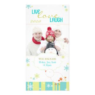 Noël blanc Photocards de Lil d'amusement lunatique Cartes De Vœux Avec Photo