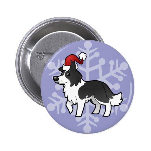 Noël border collie badges