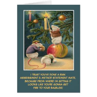 Noël BRITANNIQUE drôle de santé et sécurité Cartes De Vœux