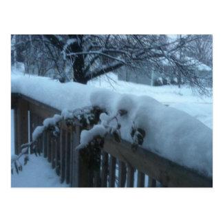 Noël canadien de scène de neige carte postale