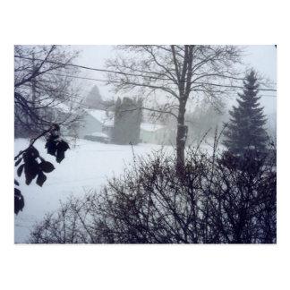 Noël canadien de scène de neige cartes postales