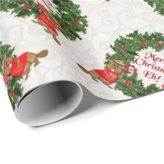 Noël canadien drôle hein 2 papier cadeau