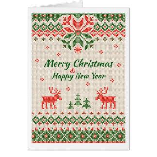 Noël - chandail laid carte de vœux