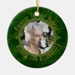 Noël commémoratif de photo de vert celtique de noe