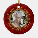 Noël commémoratif rouge celtique de photo de noeud décorations de noël
