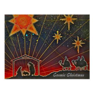 Noël cosmique - carte de fin de année