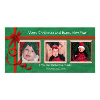 Noël courbe le trésor triple photocarte personnalisée