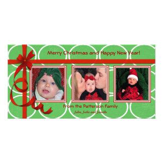 Noël courbe le trésor triple modèle pour photocarte