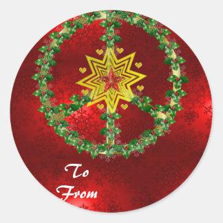 Noël d étoile de paix adhésif