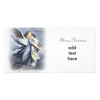 Noël d'ange cartes de vœux avec photo