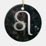 Noël d'anniversaire d'univers de signe d'étoile de ornements