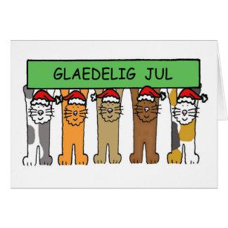 Noël danois avec des chats Glaedelig juil. Cartes