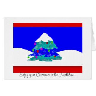 Noël dans la carte de note de la terre du nord