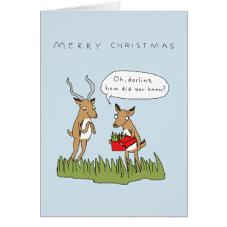 Noël dans la carte drôle de safari de Bush |