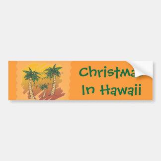 Noël dans l'adhésif pour pare-chocs tropical de autocollant pour voiture
