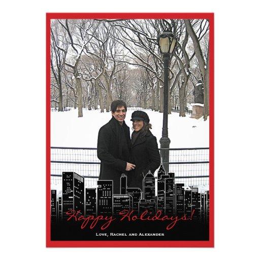Noël dans le carte photo de New York Faire-part