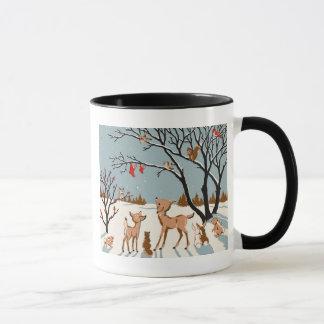 Noël dans les bois mug