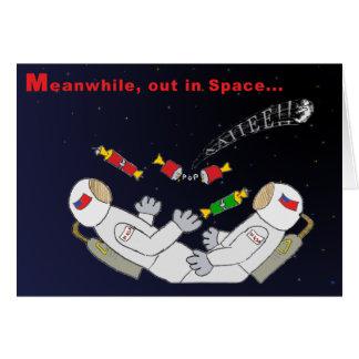 Noël dans l'espace carte de vœux