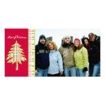 Noël d'arbre et de flocon de neige de plaid de fra photocarte personnalisée