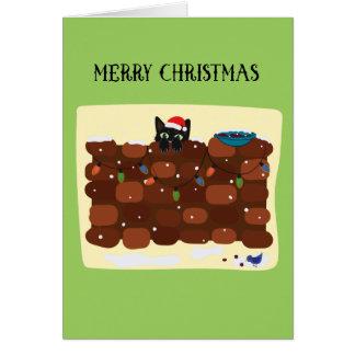 Noël de basket carte de vœux