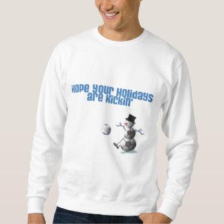 Noël de bonhomme de neige de ballon de football sweatshirt