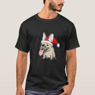 Noël de bouledogue français t-shirt
