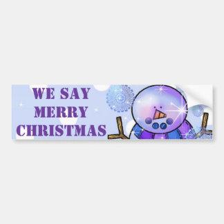 Noël de butoir d'Autocollant-Bonhomme de neige bon Autocollant Pour Voiture