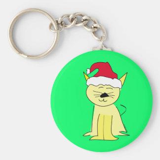 Noël de chat de Père Noël Porte-clef