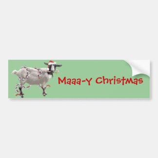 Noël de chèvre autocollant de voiture
