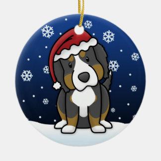 Noël de chien de montagne de Bernese de bande Ornement Rond En Céramique