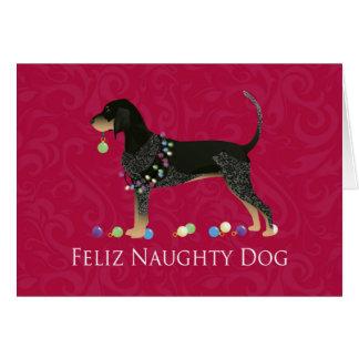 Noël de Coonhound de Bluetick Carte De Vœux