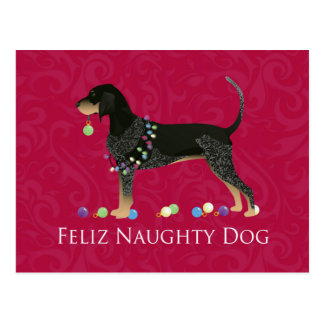 Noël de Coonhound de Bluetick Carte Postale