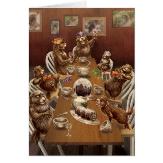 Noël de côte ouest : Marmottes Carte De Vœux