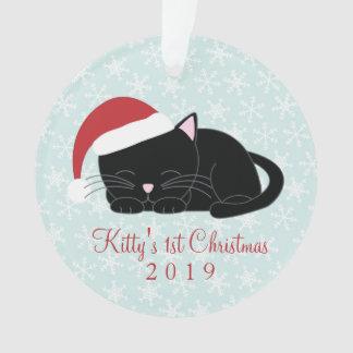 Noël de coutume de chat noir