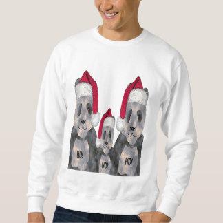 Noël de famille de panda sweatshirt