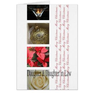 Noël de fille et de belle-fille carte de vœux