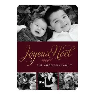 Noël de Français de Joyeux Noel Carton D'invitation 12,7 Cm X 17,78 Cm