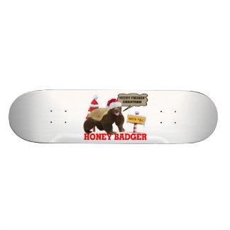 Noël de Freakin de blaireau de miel Joyeux Skateboard