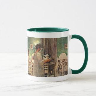 Noël de jour de Carl Larsson Père Noël Lucia en Mug