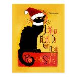 Noël de Joyeux Noël Du Chat Noir Carte Postale