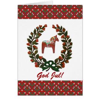 Noël de juillet de Dieu de guirlande de cheval de Carte De Vœux