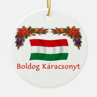 Noël de la Hongrie Ornement Rond En Céramique