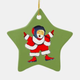 Noël de lutte ornement étoile en céramique