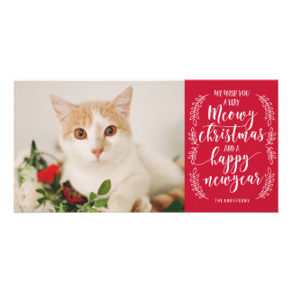 Noël de Meowy Carte Avec Photo