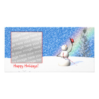 Noël de Milou du bonhomme de neige Photocarte
