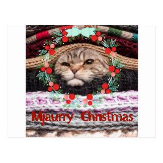 Noël de Mjaurry, chat dans la joyeuse copie Cartes Postales