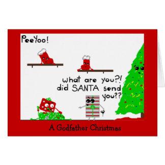 Noël de parrain carte de vœux