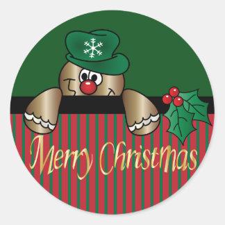 Noël de Peeker | de pain d'épice Sticker Rond