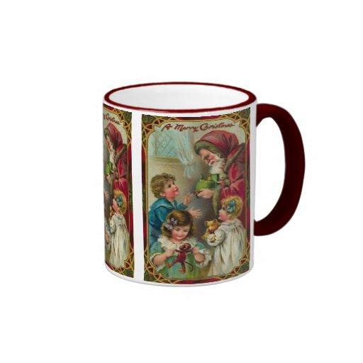 Noël de père - art vintage mug ringer